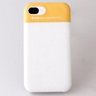 iPhone4s/4 Leather Bar White/Orange
