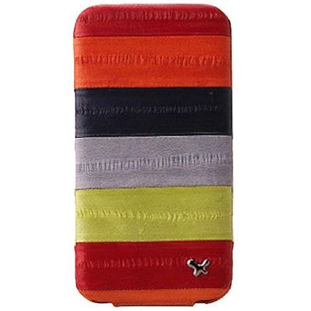 iPhone4s/4 Prestige Eel Leather Folder Series  MULTI RED