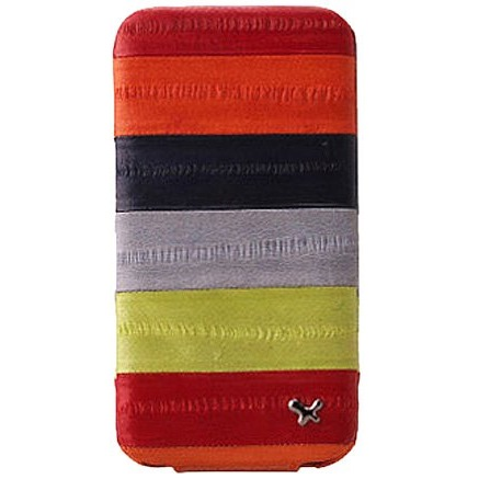 iPhone4s/4 Prestige Eel Leather Folder Series  MULTI RED_0