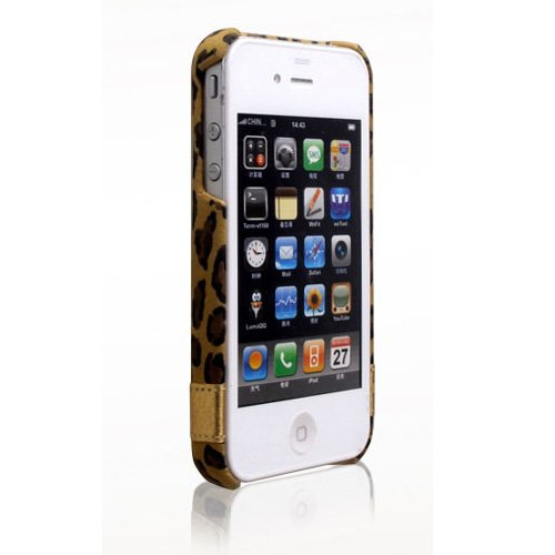 iPhone4s/4 Leopard Bar ヒョウ柄