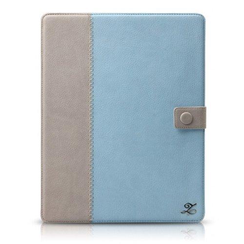 新しいiPadケース Masstige E-Note Diary スカイブルー iPad 第3世代第4世代_0