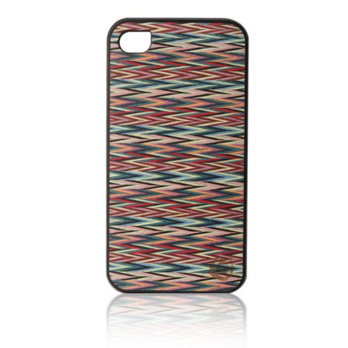iPhone4s/4 Real wood case Caleido Sylvia's Check