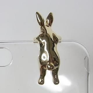 動物がしがみついている クリアケース ウザギゴールド iPhone 6
