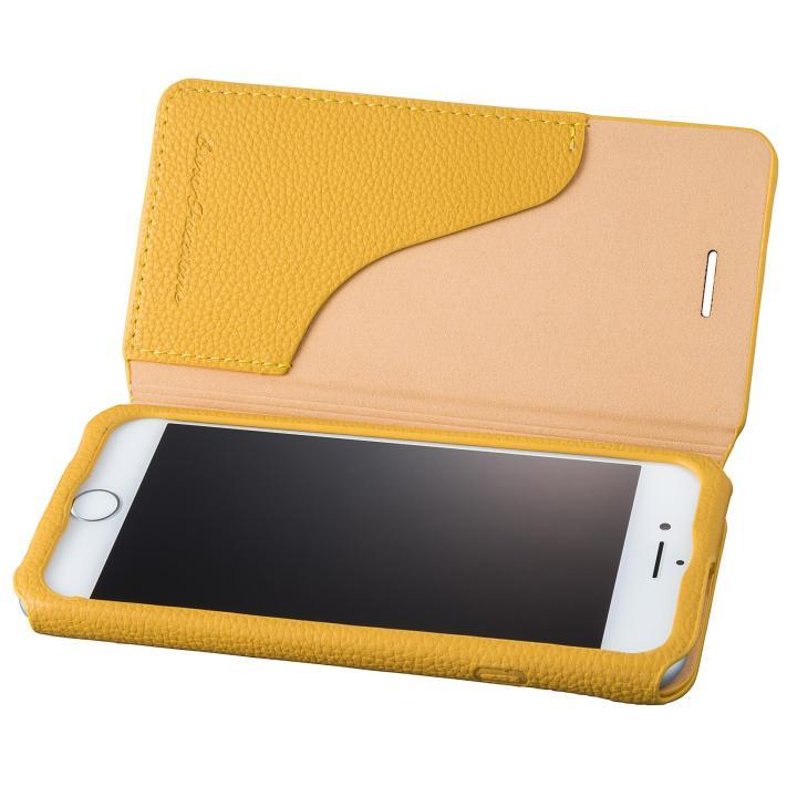 【iPhone8/7ケース】GRAMAS COLORS PUシュリンクレザー手帳型ケース EURO Passione 2 イエロー iPhone 8/7_0