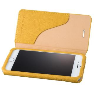GRAMAS COLORS PUシュリンクレザー手帳型ケース EURO Passione 2 イエロー iPhone 8/7