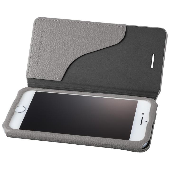 【iPhone8/7ケース】GRAMAS COLORS PUシュリンクレザー手帳型ケース EURO Passione 2 グレイ iPhone 8/7_0