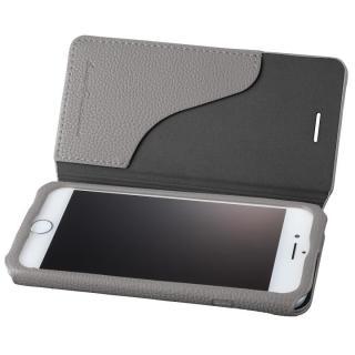 GRAMAS COLORS PUシュリンクレザー手帳型ケース EURO Passione 2 グレイ iPhone 8/7
