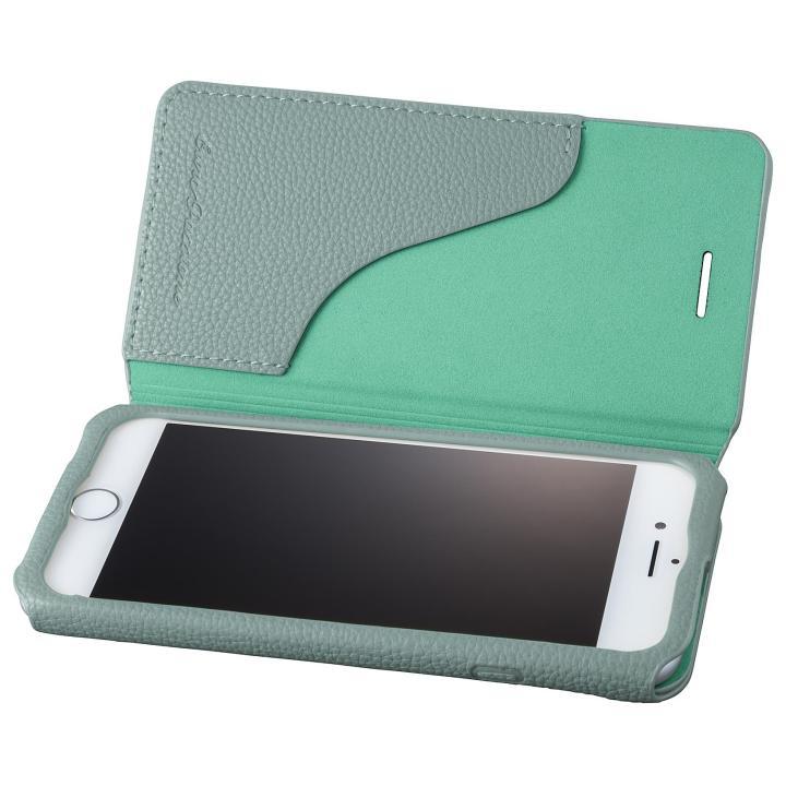 iPhone8/7 ケース GRAMAS COLORS PUシュリンクレザー手帳型ケース EURO Passione 2 ブルー iPhone 8/7_0
