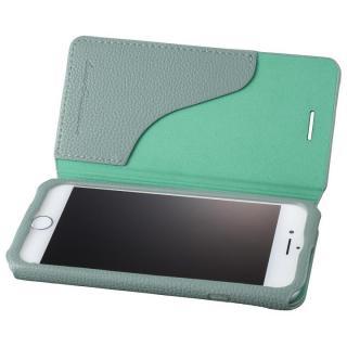 GRAMAS COLORS PUシュリンクレザー手帳型ケース EURO Passione 2 ブルー iPhone 8/7