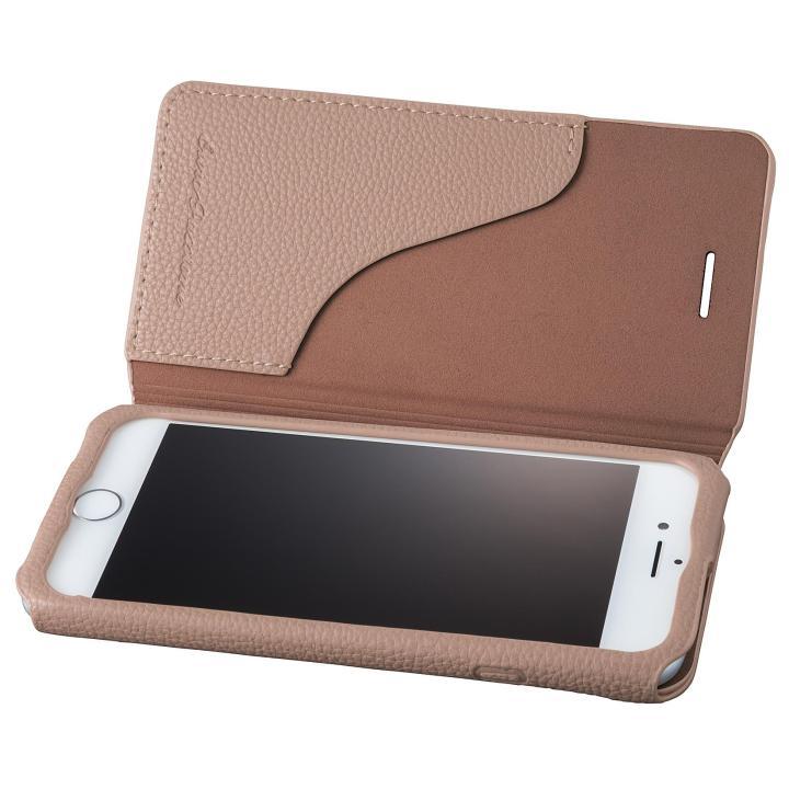 【iPhone8/7ケース】GRAMAS COLORS PUシュリンクレザー手帳型ケース EURO Passione 2 ブラウン iPhone 8/7_0