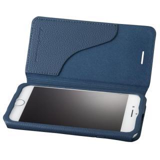 GRAMAS COLORS PUシュリンクレザー手帳型ケース EURO Passione 2 ネイビー iPhone 8/7