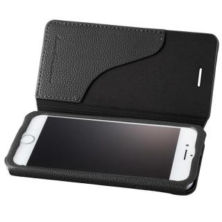 GRAMAS COLORS PUシュリンクレザー手帳型ケース EURO Passione 2 ブラック iPhone 8/7