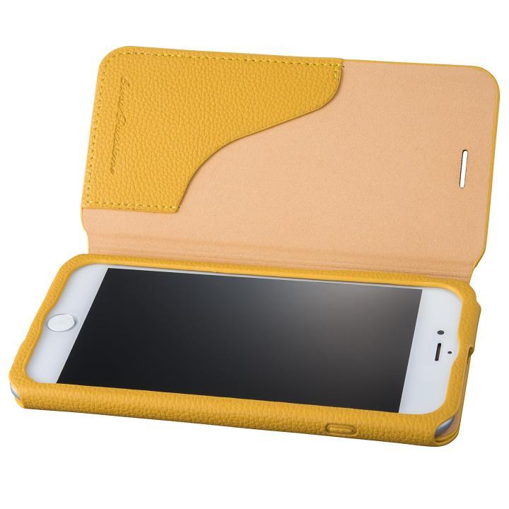 GRAMAS COLORS PUシュリンクレザー手帳型ケース EURO Passione 2 イエロー iPhone 7 Plus
