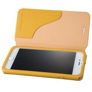 GRAMAS COLORS PUシュリンクレザー手帳型ケース EURO Passione 2 イエロー iPhone 8 Plus/7 Plus