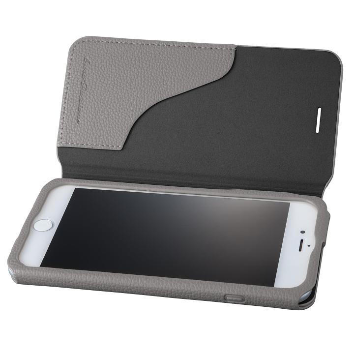GRAMAS COLORS PUシュリンクレザー手帳型ケース EURO Passione 2 グレイ iPhone 7 Plus