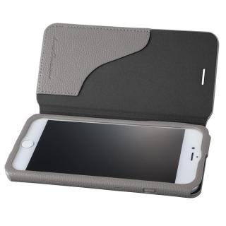 GRAMAS COLORS PUシュリンクレザー手帳型ケース EURO Passione 2 グレイ iPhone 8 Plus/7 Plus