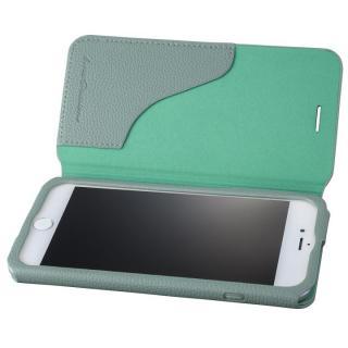 GRAMAS COLORS PUシュリンクレザー手帳型ケース EURO Passione 2 ブルー iPhone 8 Plus/7 Plus