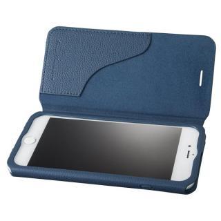 GRAMAS COLORS PUシュリンクレザー手帳型ケース EURO Passione 2 ネイビー iPhone 8 Plus/7 Plus