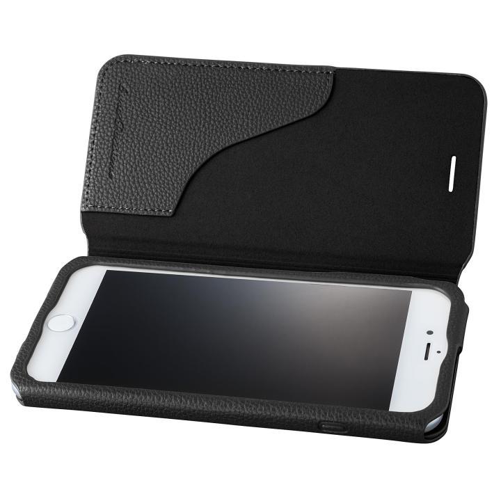 GRAMAS COLORS PUシュリンクレザー手帳型ケース EURO Passione 2 ブラック iPhone 8 Plus/7 Plus