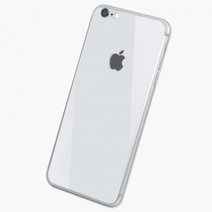 [0.33mm]Deff 背面強化ガラス ホワイト iPhone 6s/6