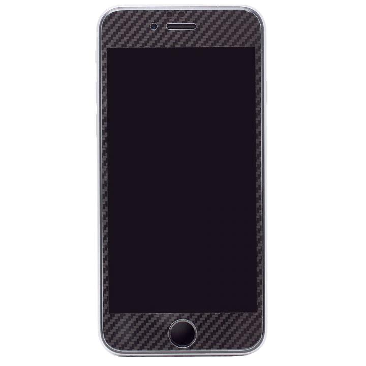 iPhone6s/6 フィルム [0.33mm]Deff 強化ガラス 全面保護 ブラックカーボン iPhone 6s/6_0