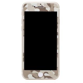 [0.33mm]Deff 強化ガラス 全面保護 迷彩/砂漠 iPhone 6s/6