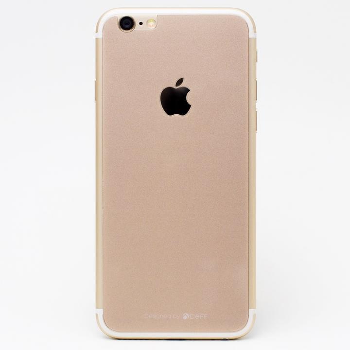 iPhone6s/6 フィルム [0.33mm]Deff 背面強化ガラス ゴールド iPhone 6s/6_0