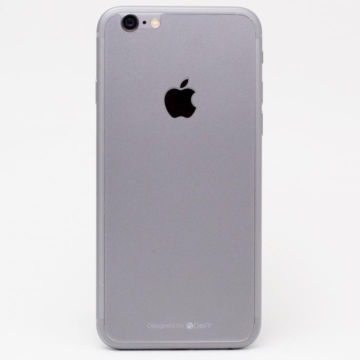 iPhone6s/6 フィルム [0.33mm]Deff 背面強化ガラス スペースグレイ iPhone 6s/6_0