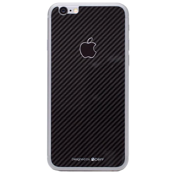 iPhone6s/6 フィルム [0.33mm]Deff 背面強化ガラス ブラックカーボン iPhone 6s/6_0