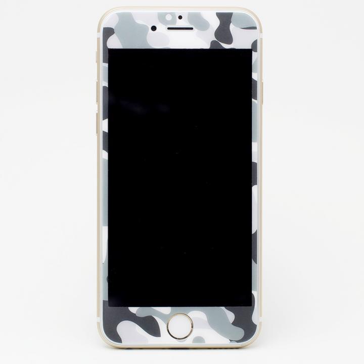 [0.33mm]Deff 強化ガラス 全面保護 迷彩/雪原 iPhone 6s Plus/6 Plus