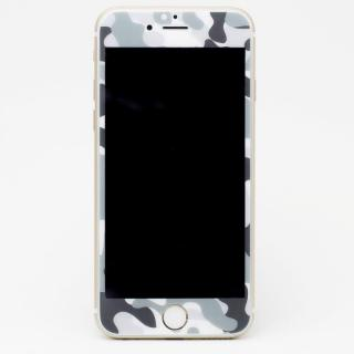 iPhone6s Plus/6 Plus フィルム [0.33mm]Deff 強化ガラス 全面保護 迷彩/雪原 iPhone 6s Plus/6 Plus