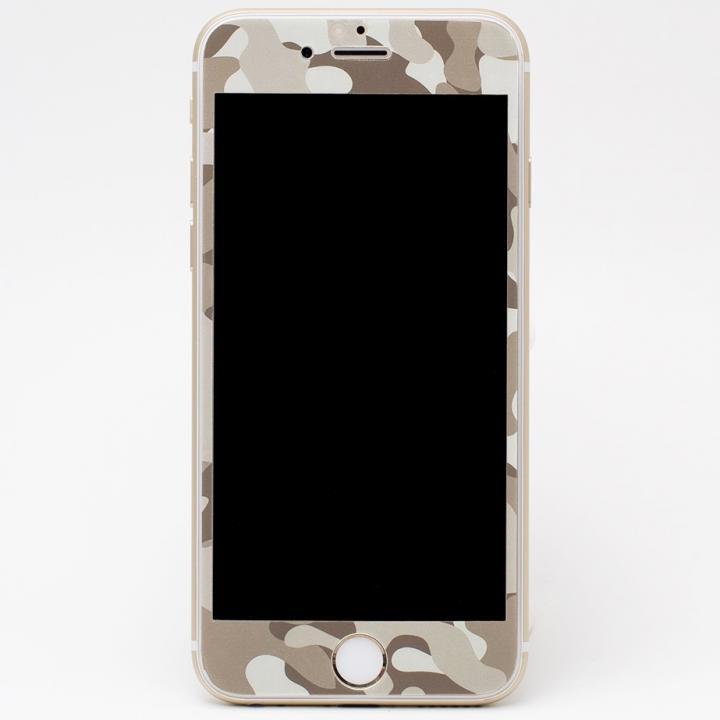 【iPhone6s Plus/6 Plusフィルム】[0.33mm]Deff 強化ガラス 全面保護 迷彩/砂漠 iPhone 6s Plus/6 Plus_0