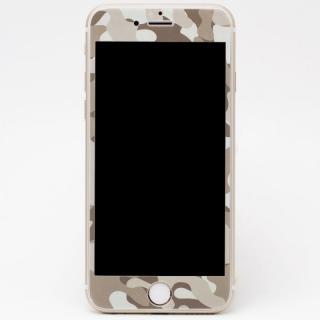iPhone6s Plus/6 Plus フィルム [0.33mm]Deff 強化ガラス 全面保護 迷彩/砂漠 iPhone 6s Plus/6 Plus