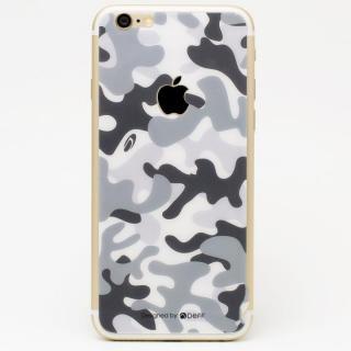 [0.33mm]Deff 背面強化ガラス 迷彩/雪原 iPhone 6s Plus/6 Plus