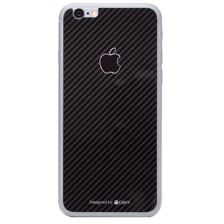 [0.33mm]Deff 背面強化ガラス ブラックカーボン iPhone 6s Plus/6 Plus
