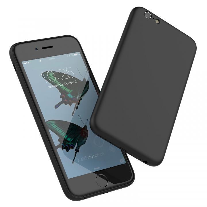 【iPhone6s/6ケース】ミニマルデザインケース MYNUS ブラック iPhone 6s/6_0