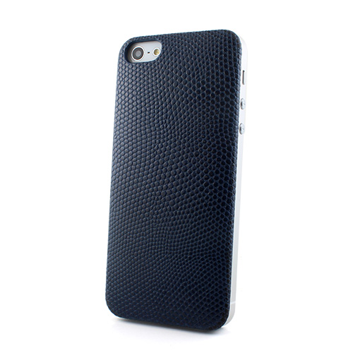 【iPhone SE/5s/5ケース】Ssongs BubblePack PlayCase Leather (Lizard Navy)  iPhone 5_0
