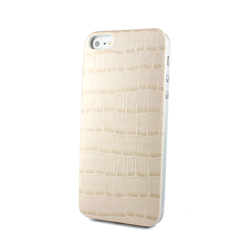 iPhone SE/5s/5 ケース Ssongs BubblePack PlayCase Leather (Crocodile Beige) iPhone 5_0