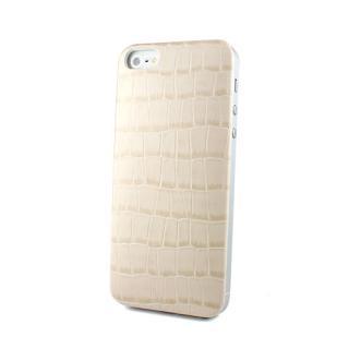 iPhone SE/5s/5 ケース Ssongs BubblePack PlayCase Leather (Crocodile Beige) iPhone 5