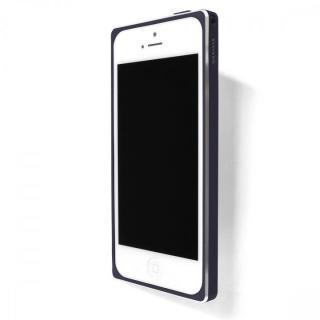 iPhone SE/5s/5 ケース 直線が美しいアルミバンパー GRAMAS ST Metal Bumper ネイビーブルー iPhone SE/5s/5