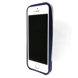 流線型で持ちやすいアルミバンパー GRAMAS ER Metal Bumper ネイビーブルー iPhone SE/5s/5