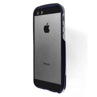 【在庫限り】流線型で持ちやすいアルミバンパー GRAMAS ER Metal Bumper ネイビーブルー iPhone 5s/5?送料無料