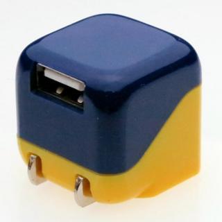 ミニUSB-ACアダプター ブルー