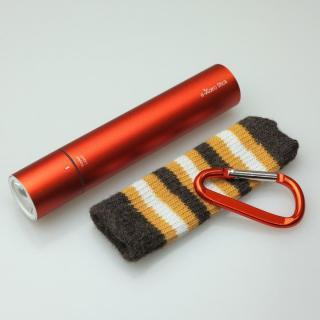 [2200mAh]e-kairoStick 充電式カイロ+予備バッテリー+LEDライト オレンジ