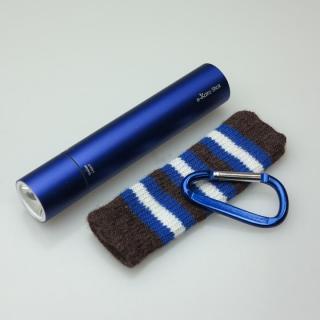 [2200mAh]e-kairoStick 充電式カイロ+予備バッテリー+LEDライト ブルー