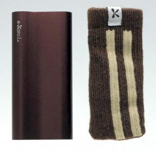 [2000mAh]e-kairoL 充電式カイロ+バッテリーチャージャー ブラウン
