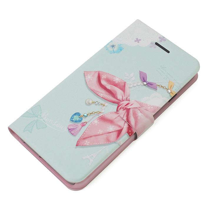 手帳型ケース Dot Scarf Diary ピンクスカーフ iPhone 6 Plus