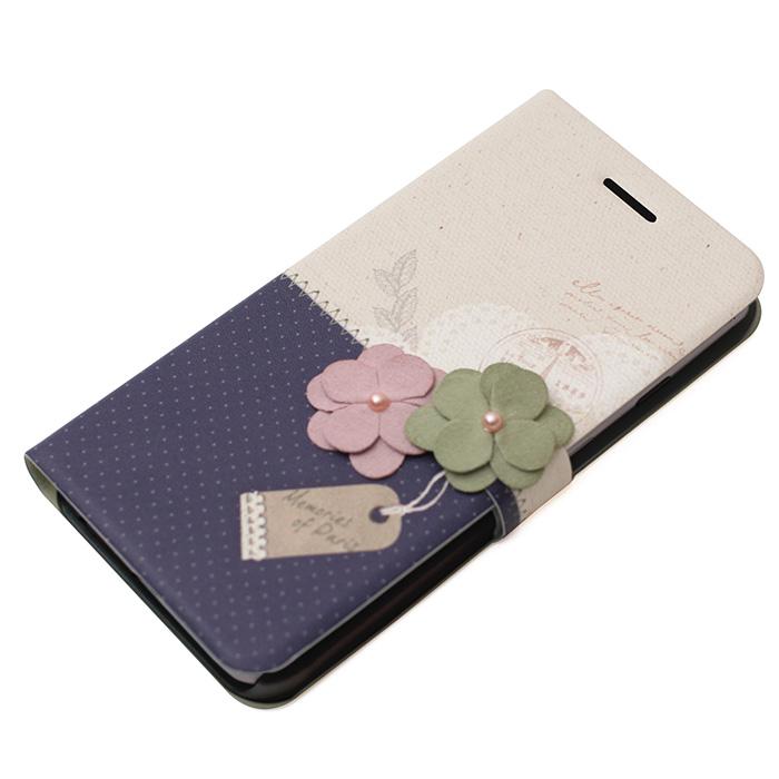 iPhone6s Plus/6 Plus ケース 手帳型ケース Memories of Paris ダークブルー iPhone 6s Plus/6 Plus_0