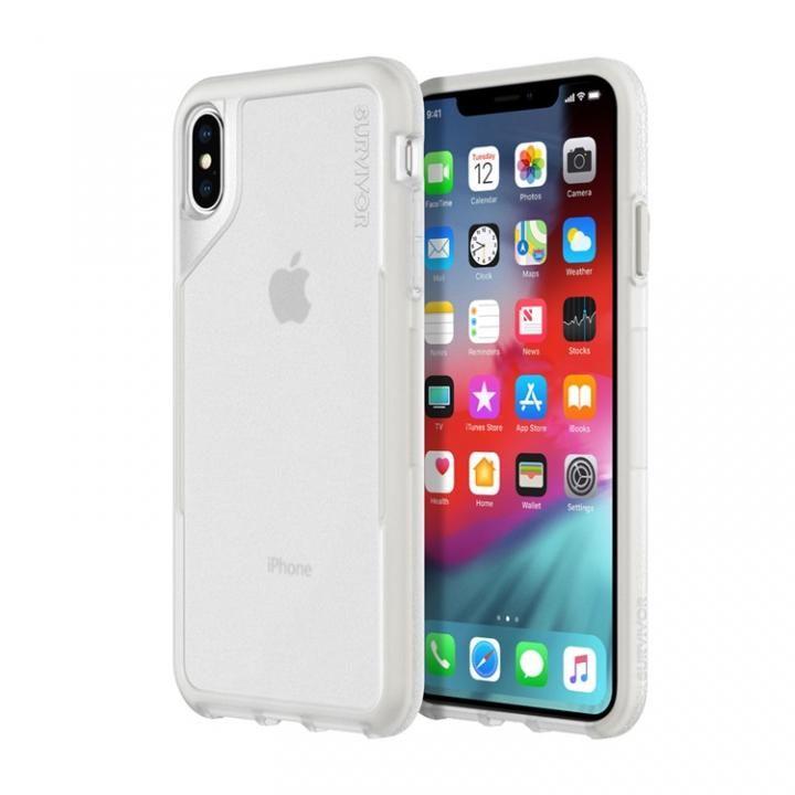 iPhone XS Max ケース Griffin Survivor エンデュランス 背面ケース クリアグレイ iPhone XS Max_0