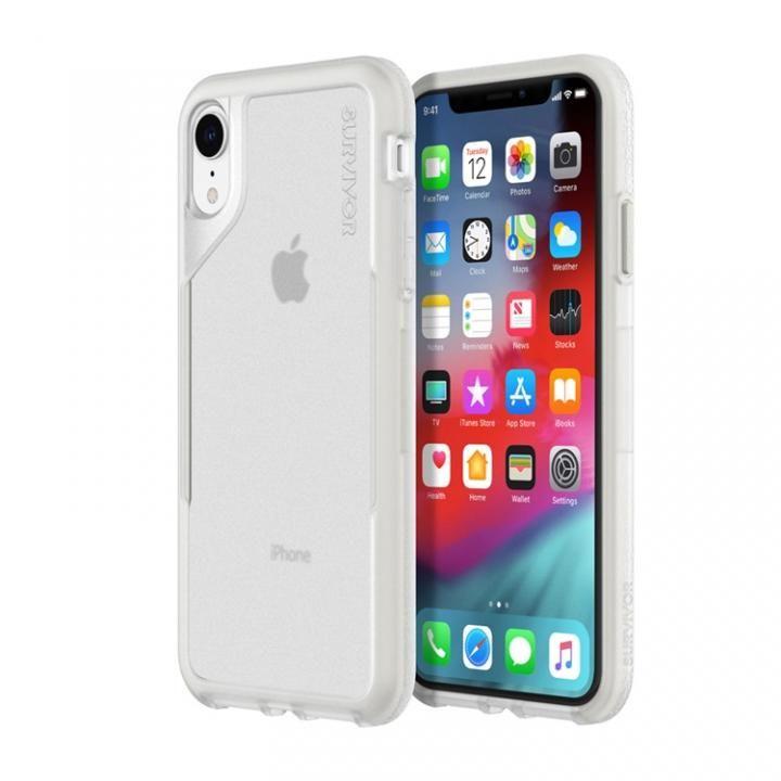 【iPhone XRケース】Griffin Survivor エンデュランス 背面ケース クリアグレイ iPhone XR_0